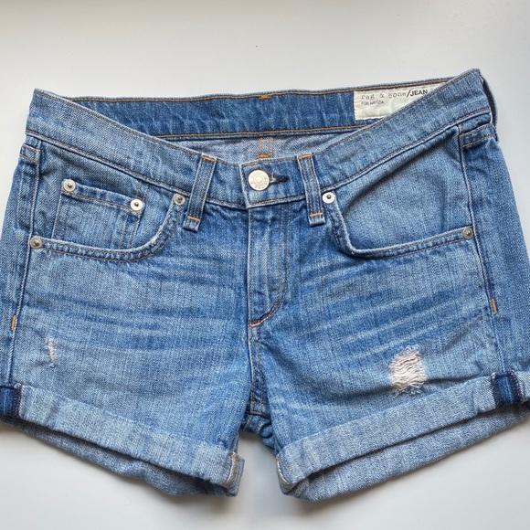 Rag & Bone for Aritzia - cuffed denim shorts